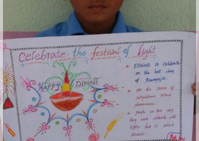Drawing on Diwali